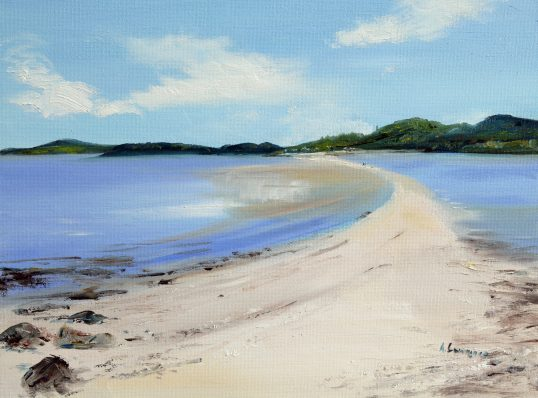 Along the causeway, Rough island towards Kippford by Angela Lawrence