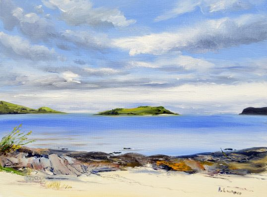 Galloway skies over Kippford by Angela Lawrence