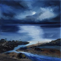 Moonlit Shore, Fleet Bay by Angela Lawrence