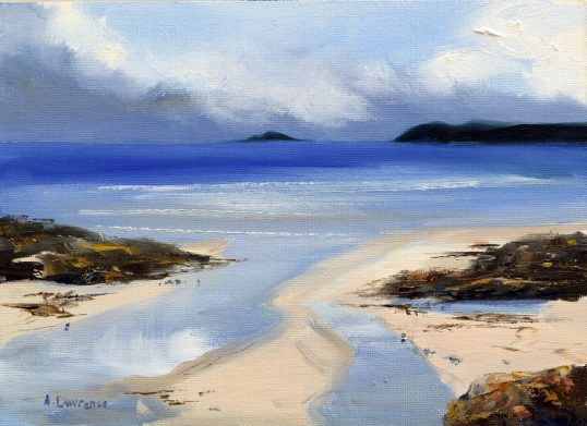 Tide washed beach, Rockcliffe by Angela Lawrence
