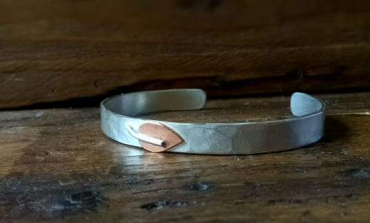 Copper Leaf Cuff by Terri Campbell