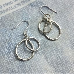 Oval and Pear earrings by Terri Campbell