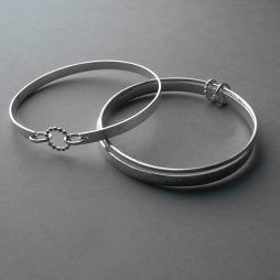 silver bangles by Rebecca Halstead