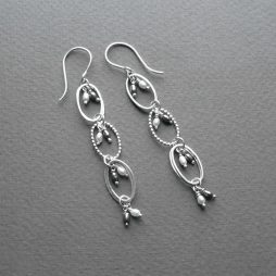 silver and pearl earrings by Rebecca Halstead