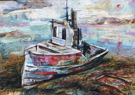 Abandoned Boat, Pennyghael by Christopher Nugent