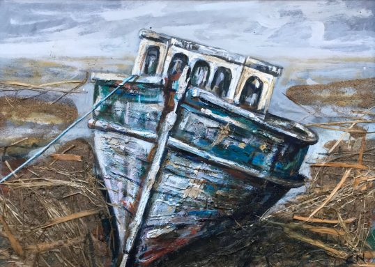 Lonely Boat, North Uist by Christopher Nugent