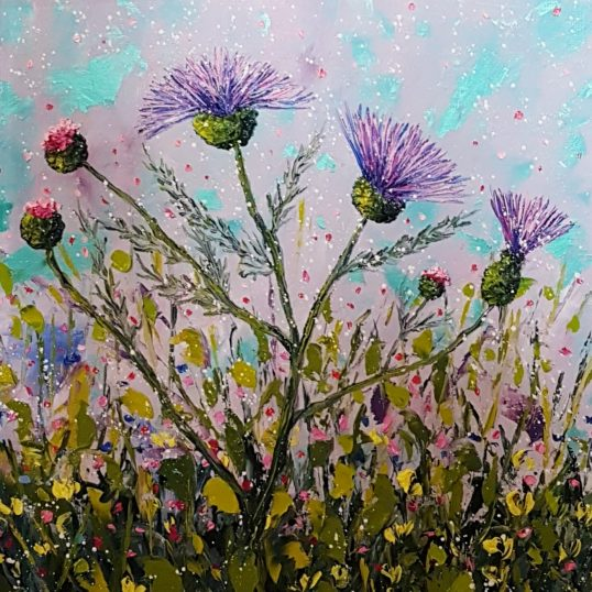 Thistle Bloom Time I by Elena Guillaumin