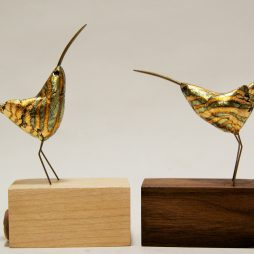 Cute curlews-gilded by Robin Fox