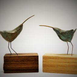 Cute curlews-verdigris by Robin Fox