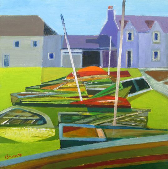 A Row of Boats by Davy Brown