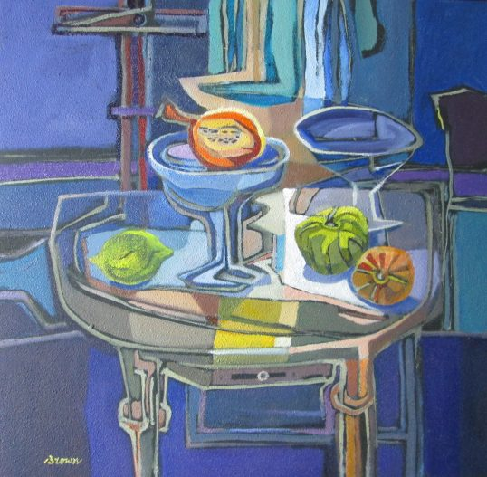 Gourds on a Table by Davy Brown