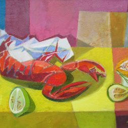 Lobster and Fruit by Davy Brown