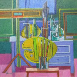 Still LIfe with yellow Palette by Davy Brown