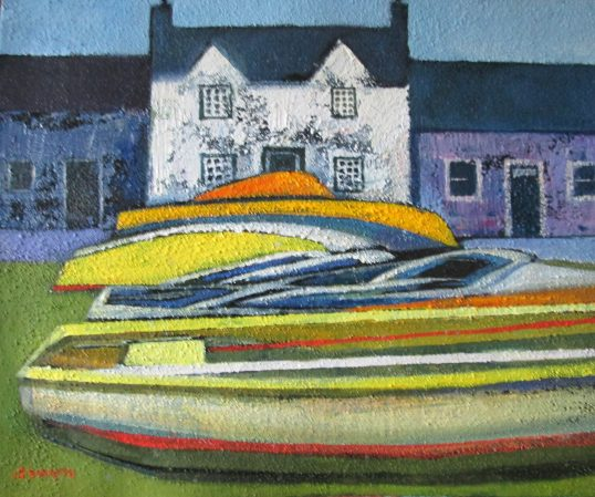 Yellow Boats by Davy Brown