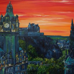 Late Summers Evening, Edinburgh by Colm O'Brien