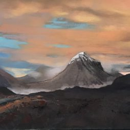 Evening Mists by Cuillins by Margaret Evans