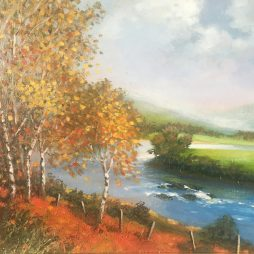 Autumn Birches by Margaret Donald