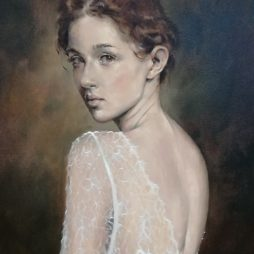Portrait of a Lady in lace by Craig McMaster