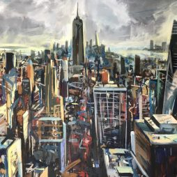 Chrysler, Empire and Bryant Park from the Rockefeller by Christopher Nugent