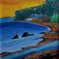 Lochside Cottages by John Wetten Brown