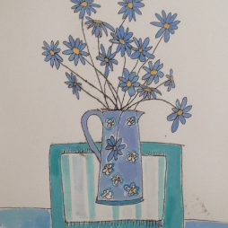 Blue Daisies by Alison Dickson