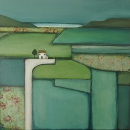 Overlooking Patchwork Fields by Jackie Henderson