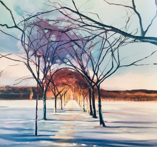 Winter, Middle Meadows walk by Sarah Anderson
