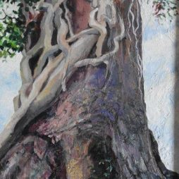 Tree and Ivy by Miriam Reid