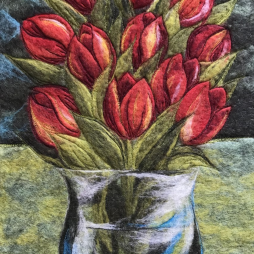 Red Tulips by Gwen Dean