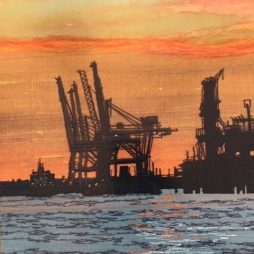 Sunset on Sheerness by Jacque Wakely