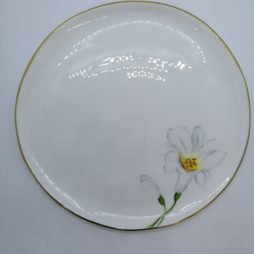 White lily plate by Erika Albrecht