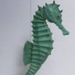 Sea Horse with Green Patina by Sue White Oakes
