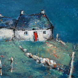 Blue Cottage, Larbost by Helen Acklam